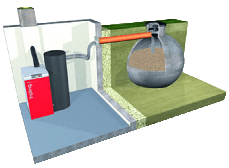 If You Have No Storage Space Indoors Then The Underground Tank Is A Good Alternative Buried Outdoors And Feeds Pellets To